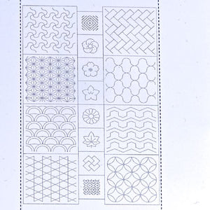 sashiko pre printed fabric panel, traditional panel