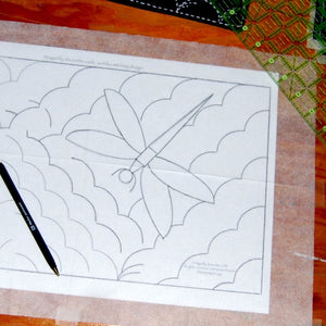 trace design onto fusible interfacing
