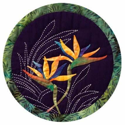 Sashiko & Applique Bird of Paradise Pattern