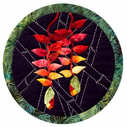 Sashiko and Applique Heliconia Flower Pattern