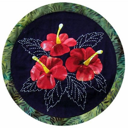 Sashiko and Applique Pattern Hibiscus Flower