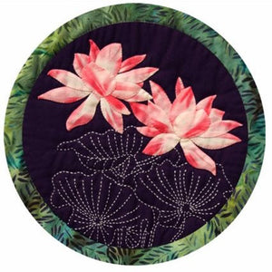 Lotus Blossom Sashiko and Applique Pattern