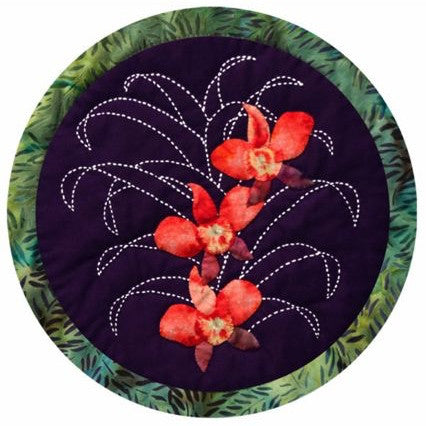 Moth Orchid Sashiko and Applique Pattern