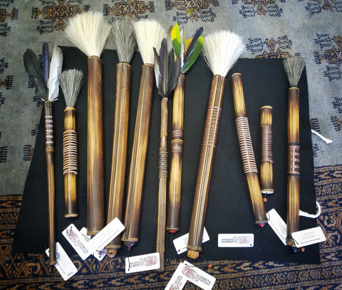 Handmade paint brushes by Elizabeth Schowachert