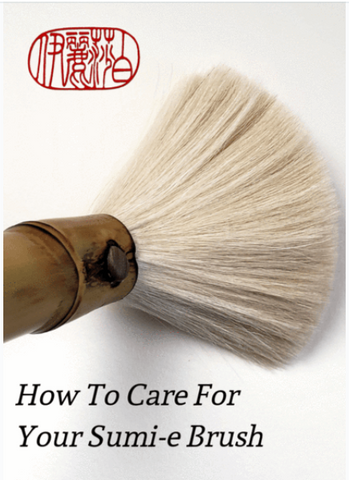 How to Care for and clean a sumi-e brush