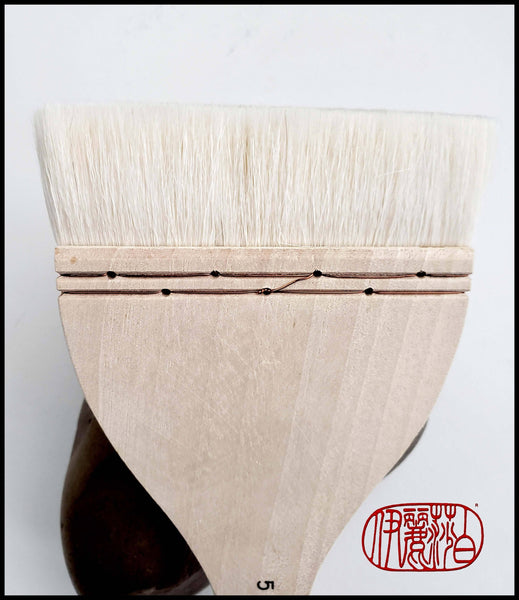 "#5 Hake Brush With Copper Fastenings and 4""X1"" Bristle Art Supplies Elizabeth Schowachert"