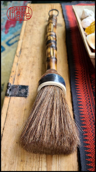 Auburn Horsehair Sumi-e Paint Brush with Ceramic Ferrule Art Supplies Elizabeth Schowachert Art