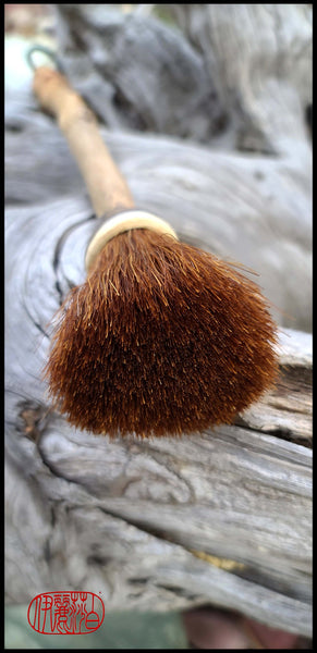 Auburn Horsehair Sumi-e Paintbrush with Ceramic Ferrule Art Supplies Elizabeth Schowachert Art