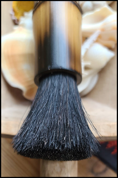 Black Coarse Horsehair Paint Brush Art Supplies Elizabeth Schowachert Art