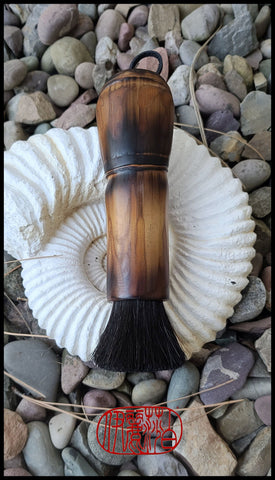 Coarse, Stiff Horsehair Brush with Bamboo Handle Art Supplies Elizabeth Schowachert Art