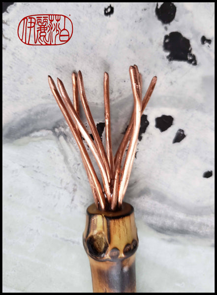 Copper Wire Brush with Bamboo Root Handle Art Supplies Elizabeth Schowachert Art