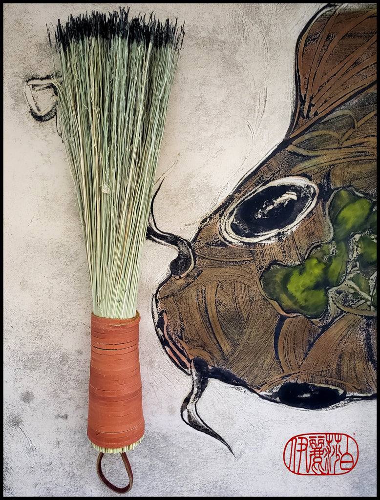 Corn Fiber Broom Paint Brush Art Supplies Elizabeth Schowachert Art