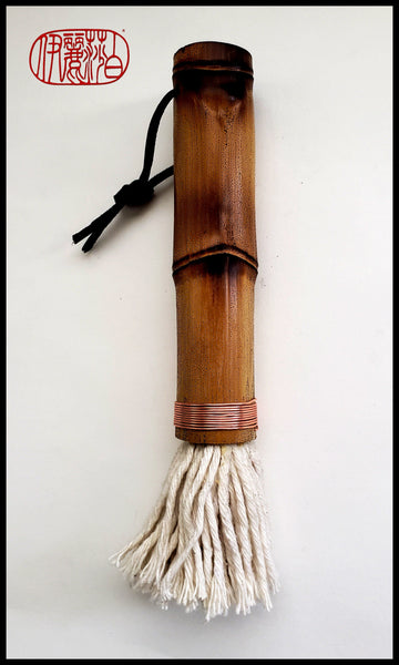 Cotton Fiber Brush With Bamboo Handle - Elizabeth Schowachert Art