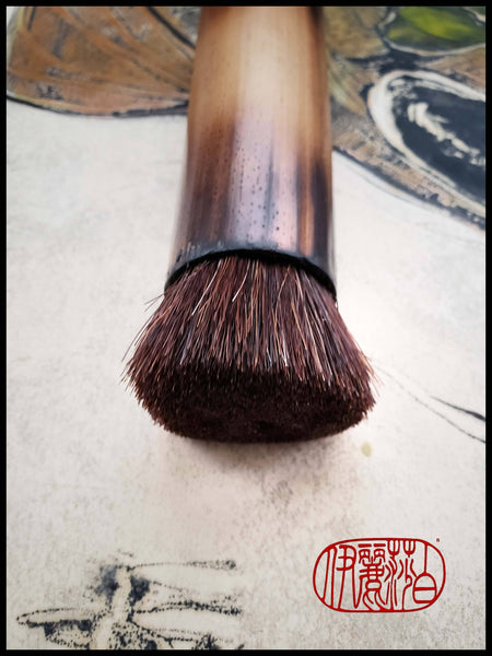 Course, Stiff Horsehair Brush with Bamboo Handle Art Supplies Elizabeth Schowachert Art