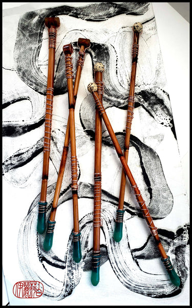 Encaustic Monotype Drawing Pens -  Handmade Art Brush - Elizabeth Schowachert Art