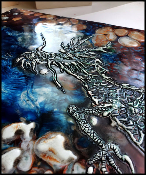 "Encaustic Painting Titled ""Wind Rider"" by Elizabeth Schowachert - Elizabeth Schowachert Art"