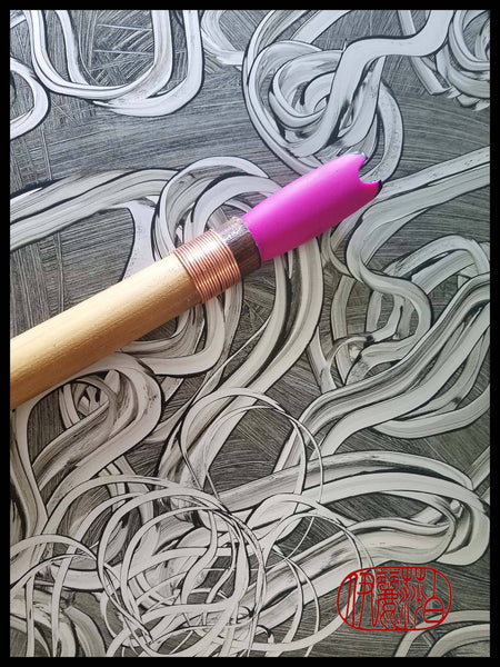 ESA - C Silicone Drawing Tool - Short Handle - Elizabeth Schowachert Art