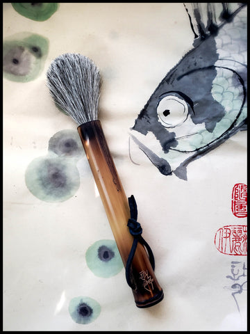Grey Horsehair Sumi-e Paint Brush Art Supplies Elizabeth Schowachert Art