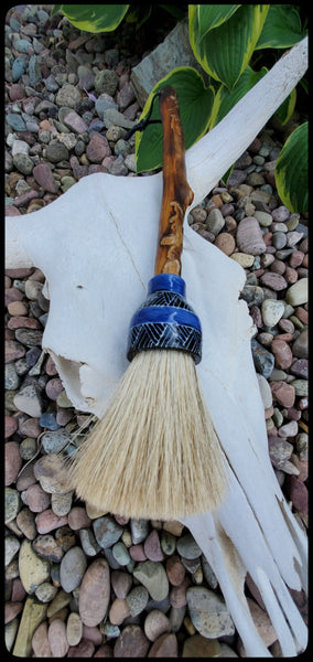 Grey Horsehair Sumi-e Paint Brush with Ceramic Ferrule Art Supplies Elizabeth Schowachert Art