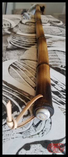 Handmade Cotton Bristle Paint Brush with 27 inch Bamboo Handle and 13 inch Long Cotton Bristles - Elizabeth Schowachert Art