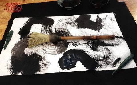 Handmade Fiber Blunt Brush With Ceramic Ferrule - Elizabeth Schowachert Art