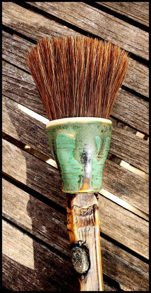 Handmade Paint Brush 2.5 inch Auburn Horse Hair Bristles, on a 7 inch  Bamboo Handle - Elizabeth Schowachert Art