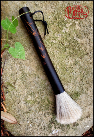 Handmade Premium Grey Horse Hair with Black Bamboo Handled - Elizabeth Schowachert Art