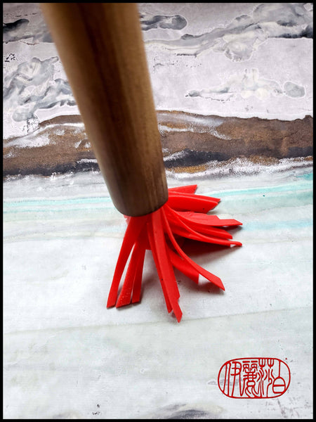 "Handmade Silicone ""HOT WAX"" Paint Brush Art Supplies Elizabeth Schowachert Art"