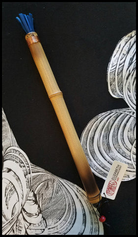 "Handmade Silicone ""Hot Wax"" Paint Brush With 12.5 Inch Bamboo Handle and 1.5 Inch Silicone Bristles - Elizabeth Schowachert Art"