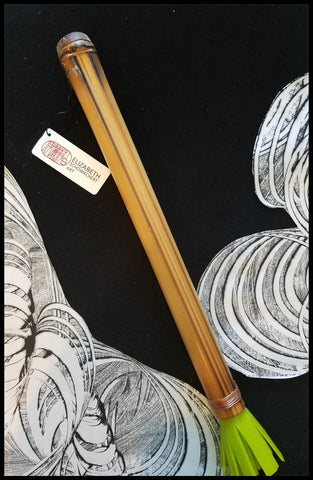 "Handmade Silicone ""Hot Wax"" Paint Brush With 13 Inch Bamboo Handle and 2 Inch Silicone Bristles - Elizabeth Schowachert Art"
