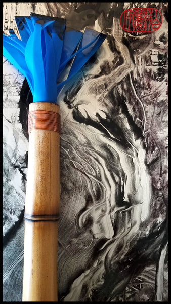 Handmade Silicone Paint Brush With 12 Inch Bamboo Handle and 4 Inch Silicone Bristles - Elizabeth Schowachert Art