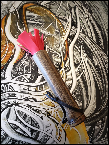 Handmade Silicone Paint Brush With 7 Inch Bamboo Handle and 2 Inch Silicone Bristles - Elizabeth Schowachert Art