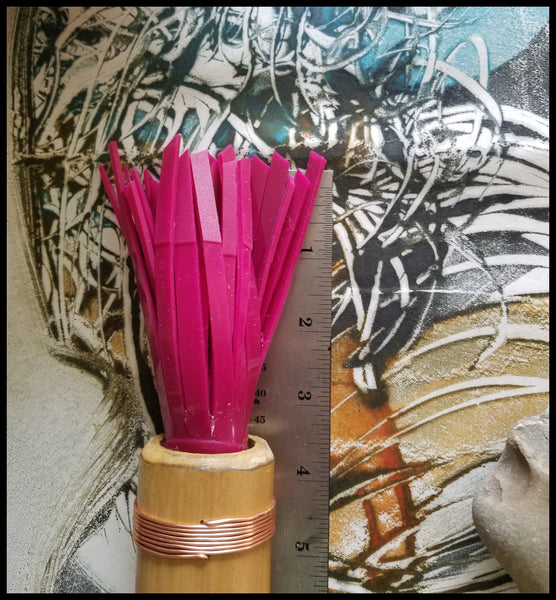 Handmade Silicone Paint Brush With 7 Inch Bamboo Handle and 3.75 Inch Silicone Bristles - Elizabeth Schowachert Art