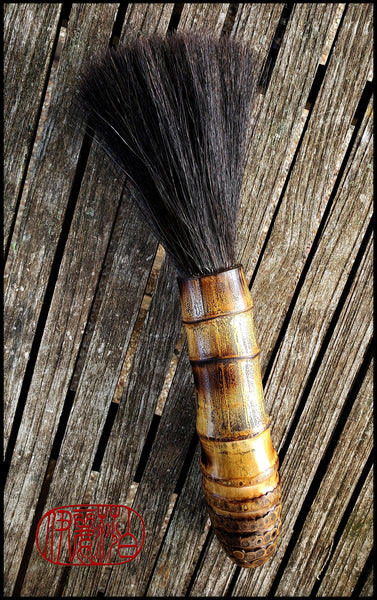 Handmade Sumi-e Paint Brush With Bamboo Root Handle Art Supplies Elizabeth Schowachert Art