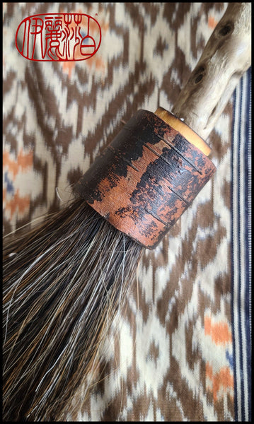 Horsehair Sumi-e Paint Brush With Curled White Birch Bark Ferrule Art Supplies Elizabeth Schowachert Art