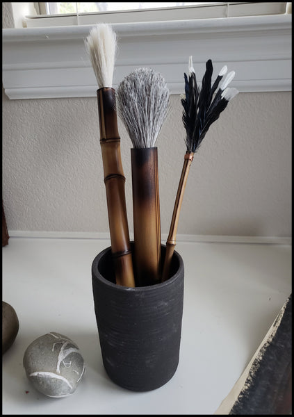 Large Brush Holder Art Supplies Elizabeth Schowachert Art