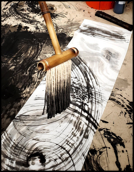 Large Cotton Fiber Sumi-e Brush Art Supplies Elizabeth Schowachert Art