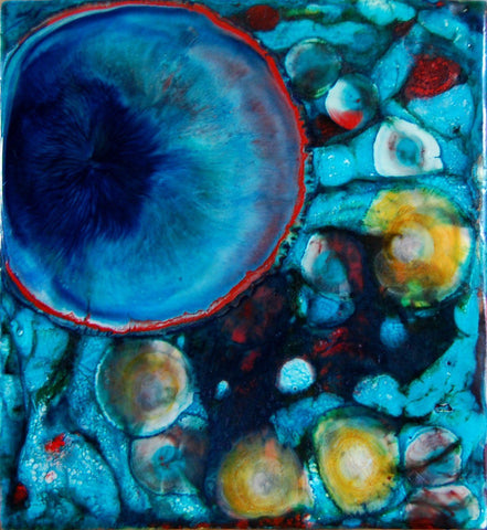 "Painting by Elizabeth Schowachert | ""Ocean Dreams 1"" 5.5X6X2 - Elizabeth Schowachert Art"
