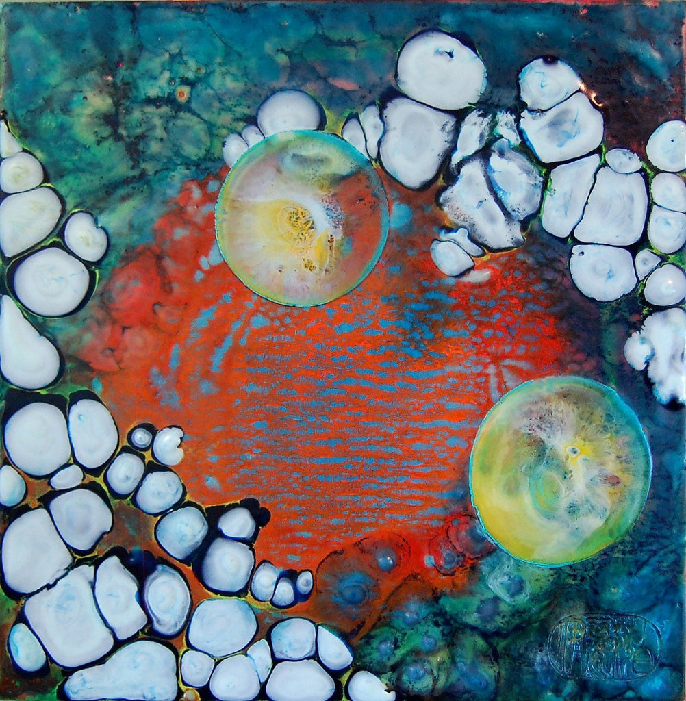 "Painting by Elizabeth Schowachert |""Space"" 12X12 - Elizabeth Schowachert Art"