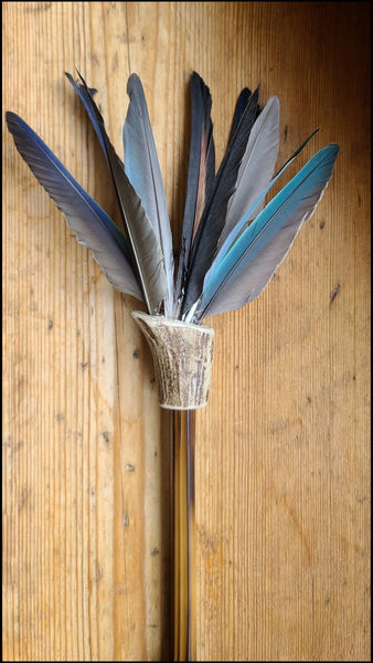 Parrot Feather Paintbrush with Bamboo Handle Art Supplies Elizabeth Schowachert Art