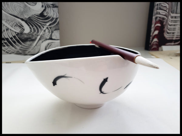 Porcelain Ink Bowl Elizabeth Schowachert Art