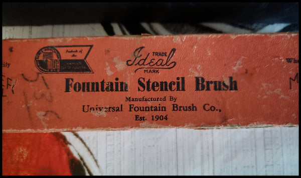Reconditioned/Repurposed Vintage Ideal Fountain Stencil Brush - Elizabeth Schowachert Art