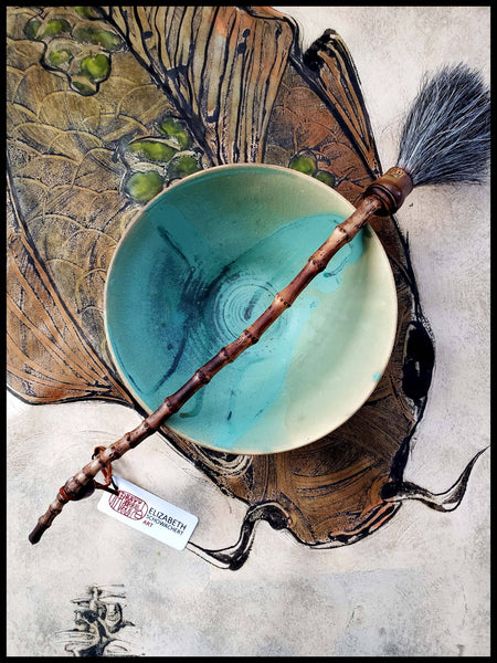Rustic Sumi-e Ink Bowl Medium Art Supplies Elizabeth Schowachert Art