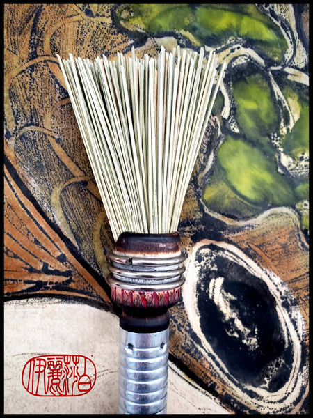 Short Fan Fiber Brush for Cold Wax Art Supplies Elizabeth Schowachert Art