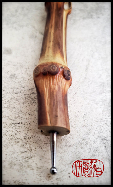 Steel Ball Stylus For Embossing & Clay Sculpting with Bamboo Root Handle - Elizabeth Schowachert Art