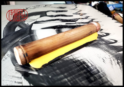 Straight Edge Silicone Blade Mark Making Tool For Encaustic Hot Box - Elizabeth Schowachert Art