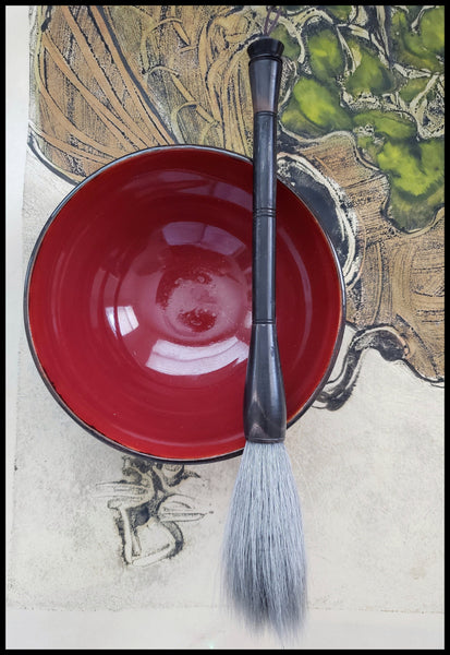 Sumi-e Ink Bowl Medium - Elizabeth Schowachert Art