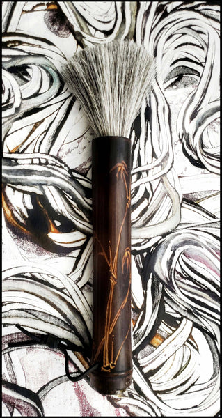 Sumi-e Paint Brush With Bamboo Handle - Elizabeth Schowachert Art