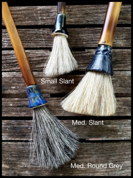 Sumi-e Paint Brushes With Ceramic Ferrules - Elizabeth Schowachert Art