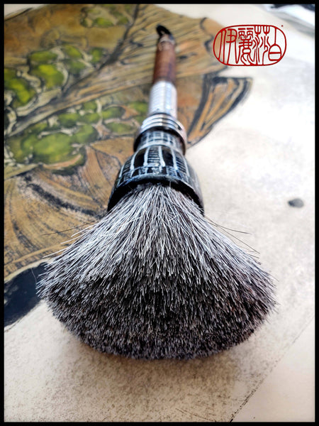 Super Premium Grey Horsehair Sumi-e Paint Brush With Porcelain Ferrule Art Supplies Elizabeth Schowachert Art